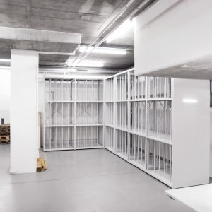 Shelving unit with poles
